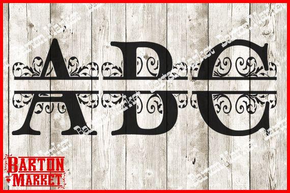 Split Letters Alphabet A-Z SVG / EPS / PNG / DXF