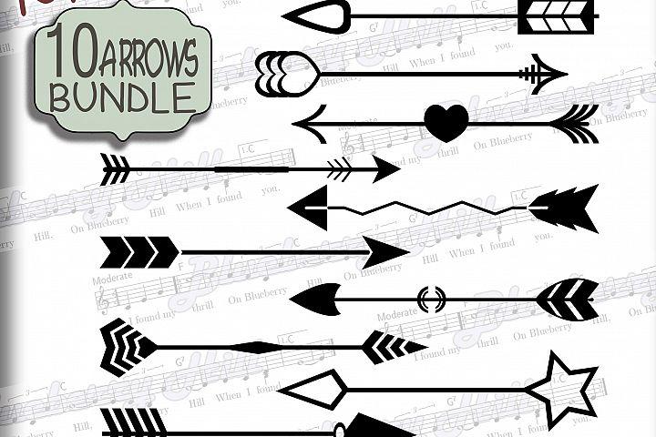 Arrows SVG - Bundle Arrows elements Svg - Bundle svg digital - Arrows clipart - SVG file - DIY- Svg - Dxf- Eps - Png - Jpg - Pdf