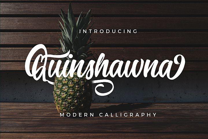 Quinshawna Font Script