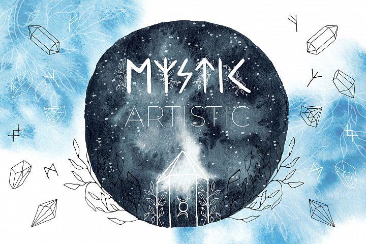 Mystic Artistic. Graphic Set