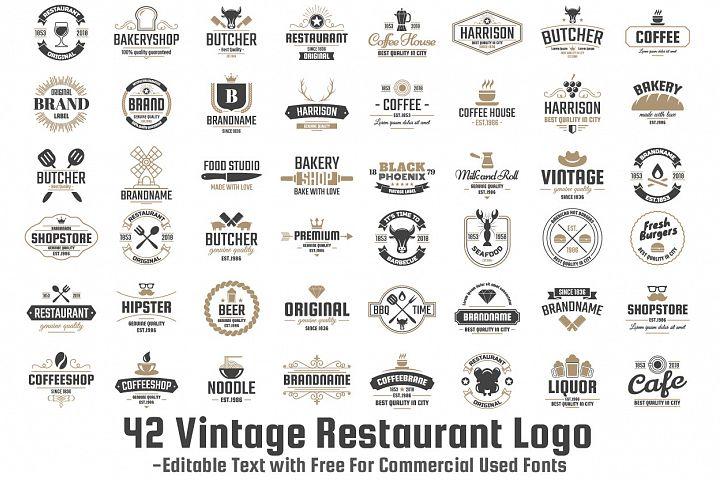 42  Vintage Logo Set example 1