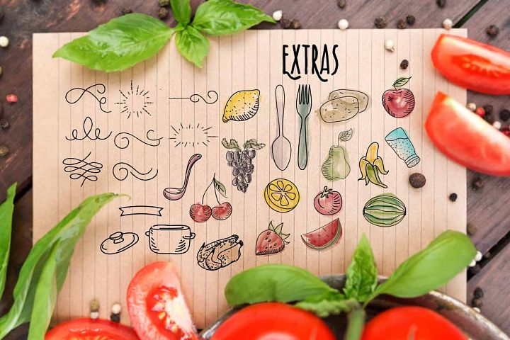 Recipe Daily - Free Font of The Week Design 5