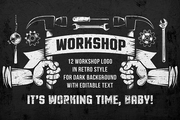 Workshop Emblems On Dark