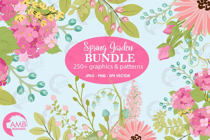 Spring Secret Garden Floral Mega Bundle