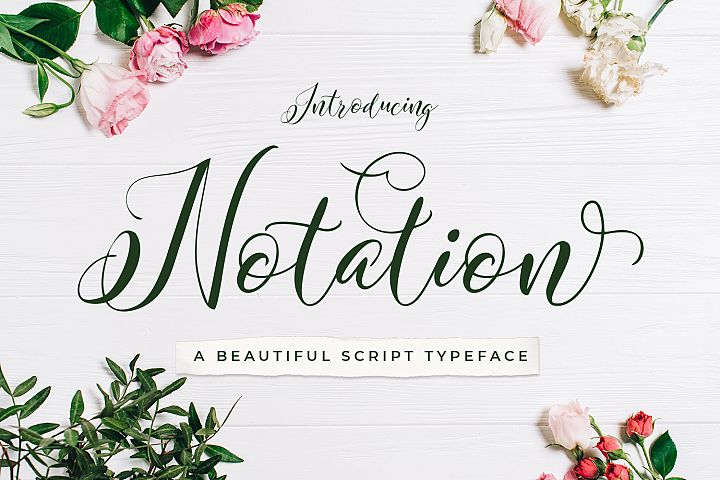 Notation + Vector Flowers