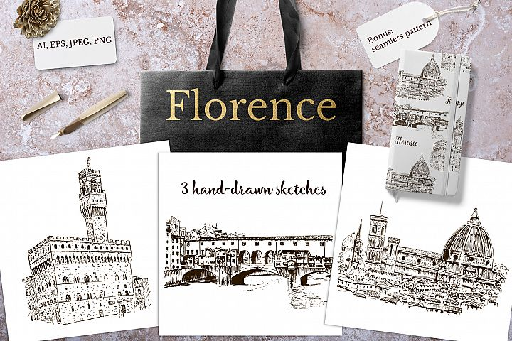 Set of Florence sketches