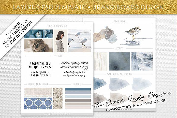 PSD Brand & Design Board Template - Design #4