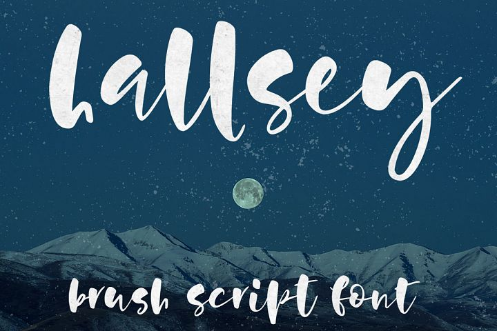 Hallsey - lowercase script font