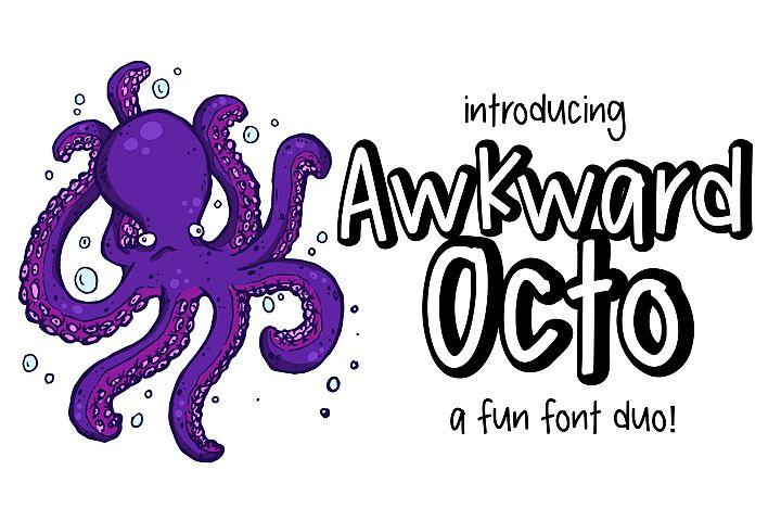 Awkward Octo a font Duo