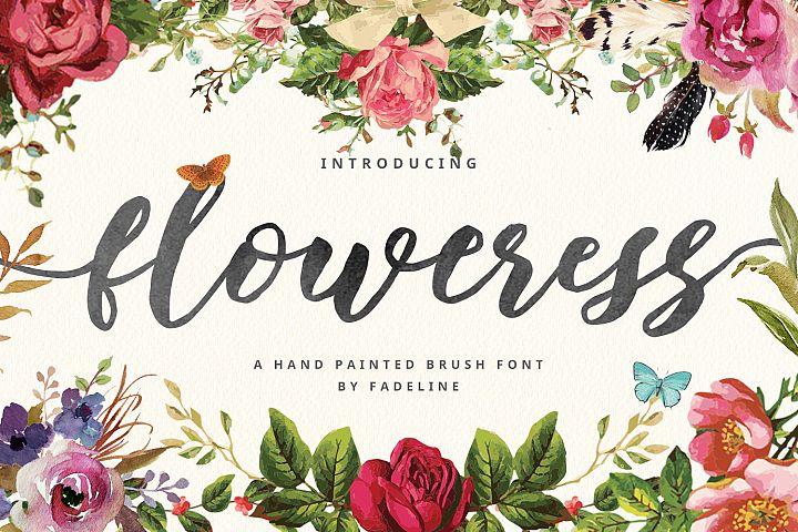Floweress - Hand Painted Brush Font