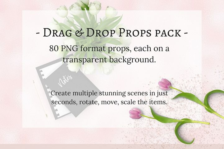 80 Drag & Drop props pack