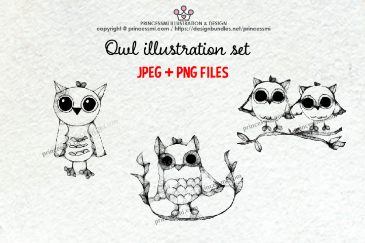 OWL illustration clipart set
