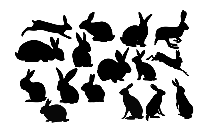 Rabbit Silhouette DXF SVG EPS PNG AI