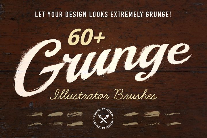 60+ Grunge Illustrator Brushes