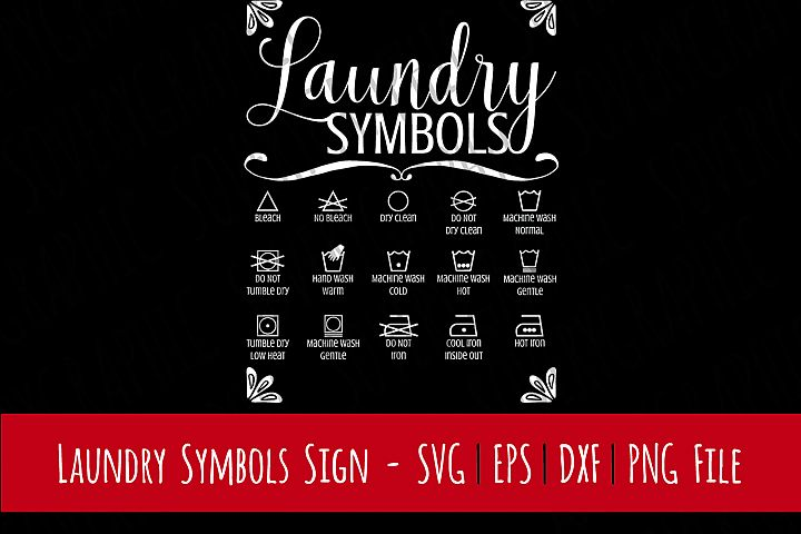 Laundry Room Symbols Sign   Cutting File   Printable   svg   eps   dxf   png   Home Decor   HTV   Clothes   Iron   Laundry Room   Symbols