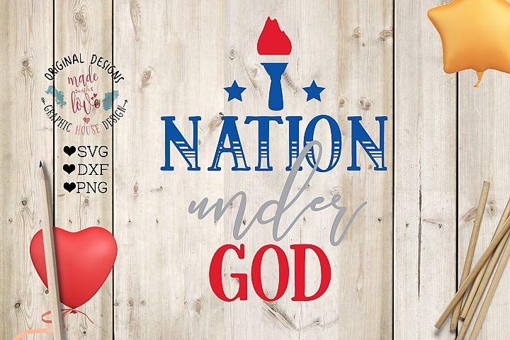 One Nation Under God Cut File (SVG, DXF, PNG)