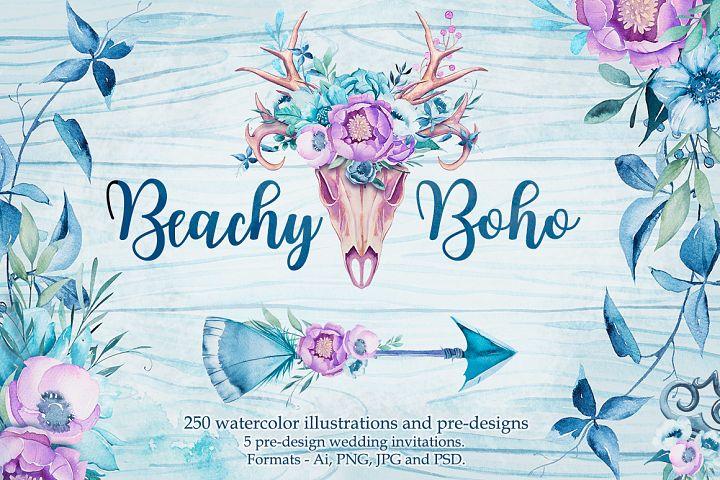 Beachy Boho watercolor