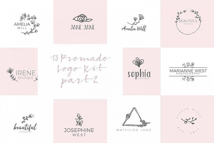 Feminine Premade Logo Kit part 2
