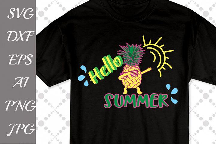 Hello Summer Svg,SUMMER SVG, Pineapple Svg