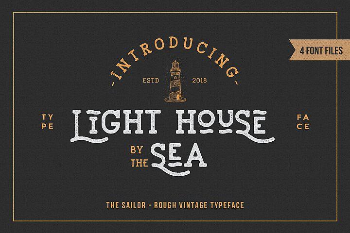 LightHouse - Vintage Sailor Rough Typeface
