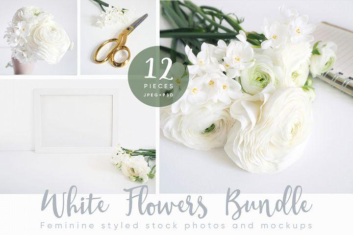 The White Flowers mock ups & photos bundle