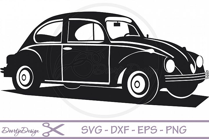VW car Vector files SVG File