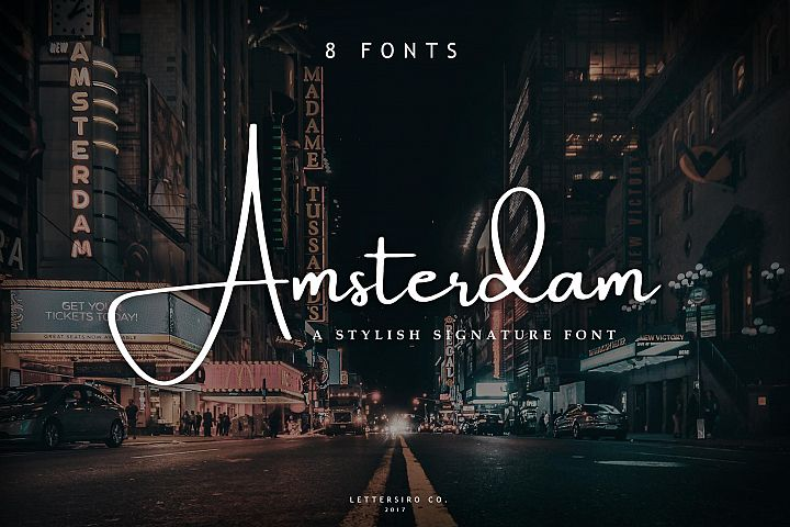 Amsterdam Font Collection | UPDATE 8 Fonts