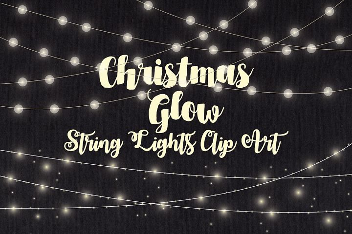 Christmas String Lights Clip Art