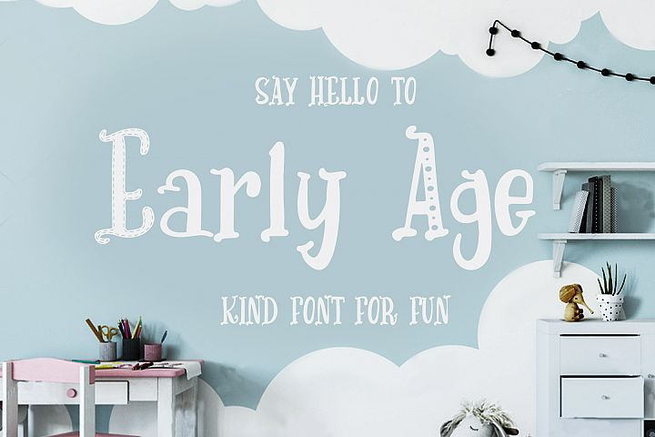 Early Age-kind font