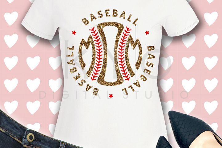 Baseball Mom SVG baseball SVG Baseball stitches svg Baseball monogram svg distressed effect design Baseball tshirt svg