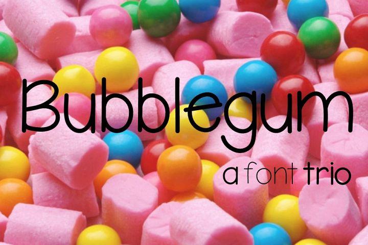 Bubblegum Font Trio