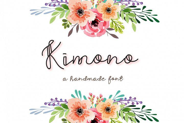Kimono - A decorative font