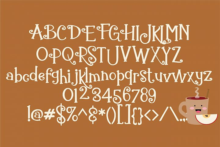 ZP Gingerbread Cake - Free Font of The Week Design 1