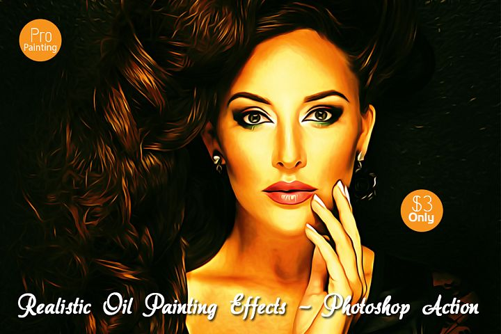 Realistic Oil Painting Effects v.5