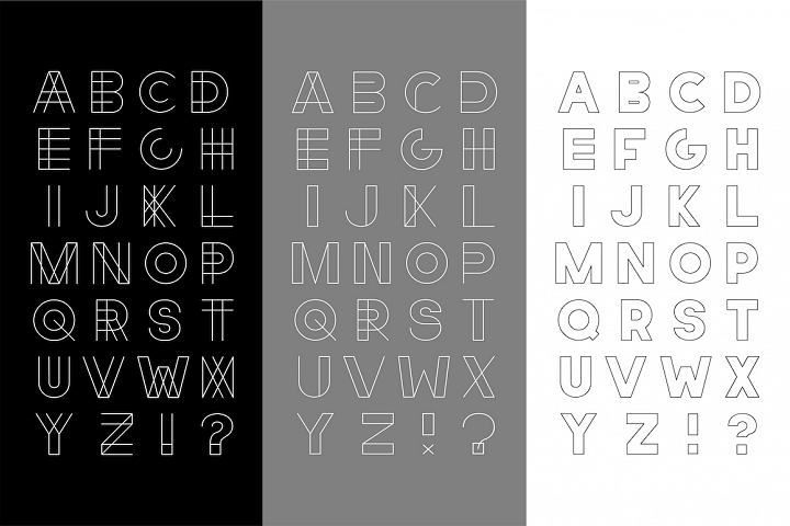 Set of vector english alphabets.
