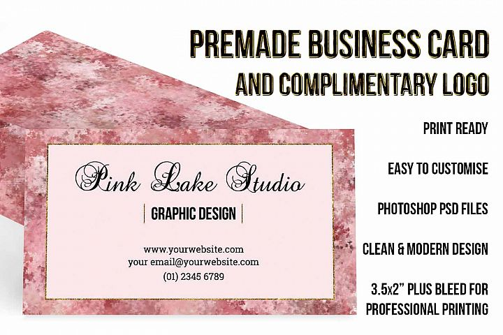Premade Elegant Logo and Business Card Template