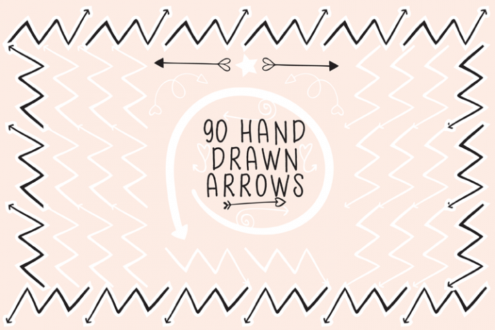 90 Hand Drawn Arrows