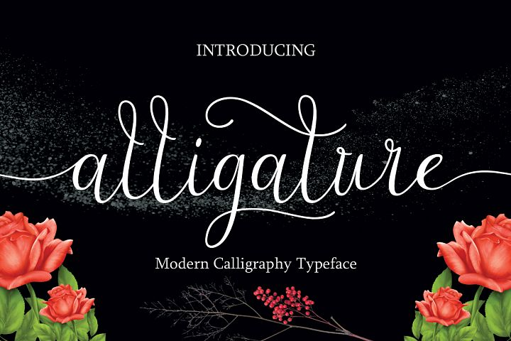 Alligature script