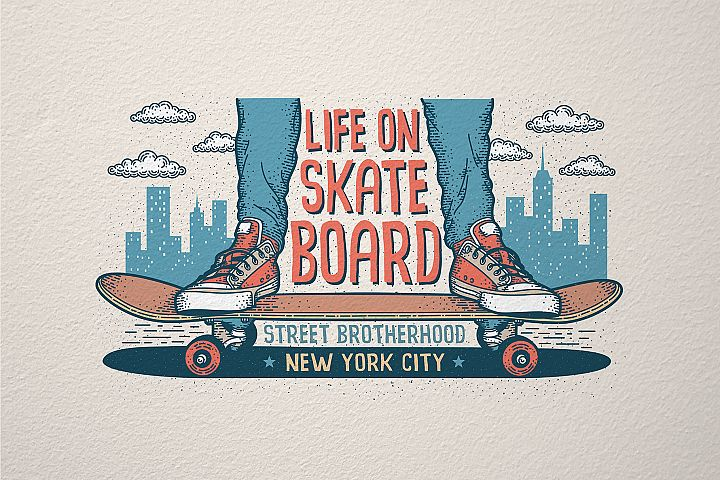 Skateboarding Print