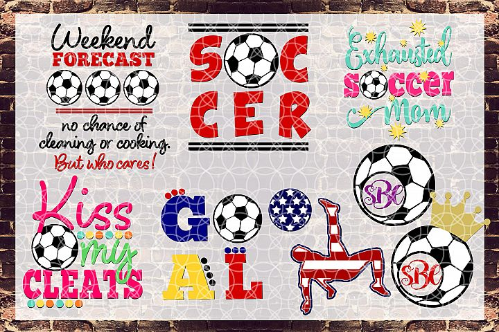 Soccer Bundle Svg, Dxf, Png Commercial & Personal Use