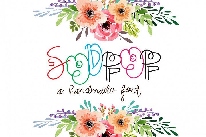 Sodpop - A decorative font