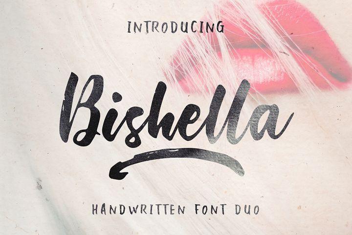 Bishella Script_Font Duo