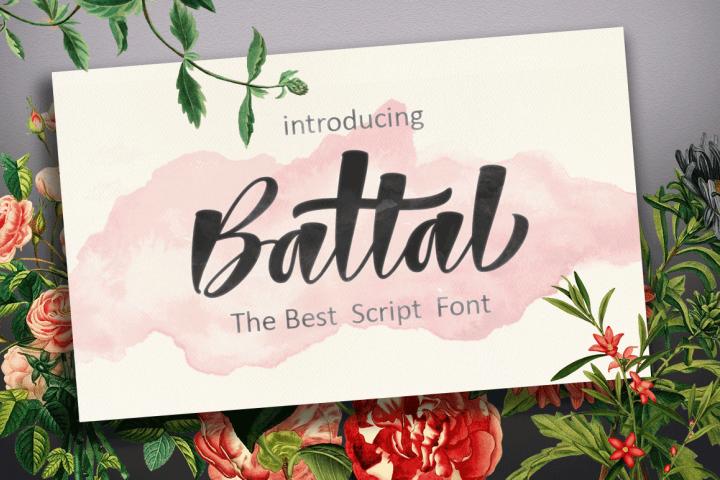 Battal Script Font