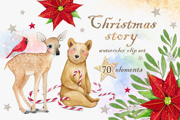 CHRISTMAS STORY watercolor set