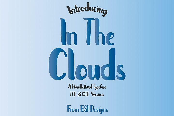 In The Clouds Font