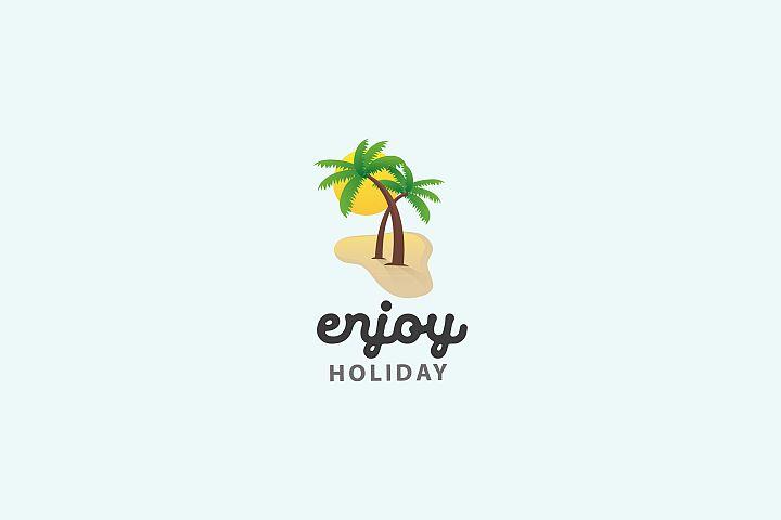 Enjoy Holiday - Logo Template