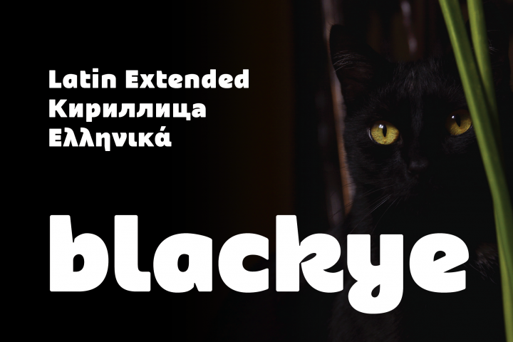Blackye - Latin Extended, Greek & Cyrillic