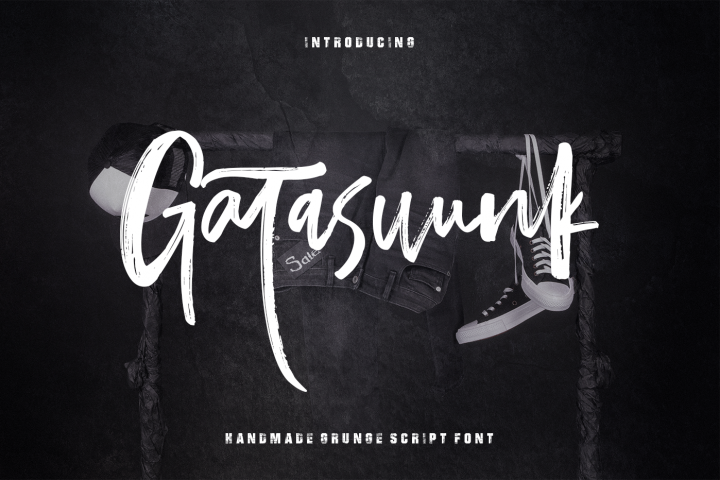 Gatasuunk New Brush Font