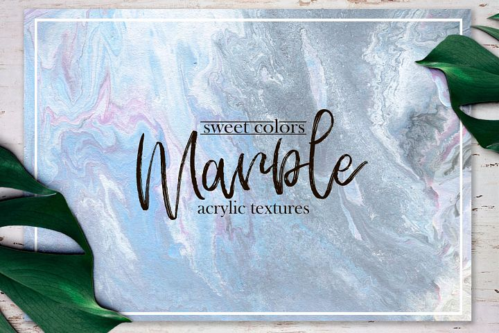 Sweet colors marble.Acrylic textures