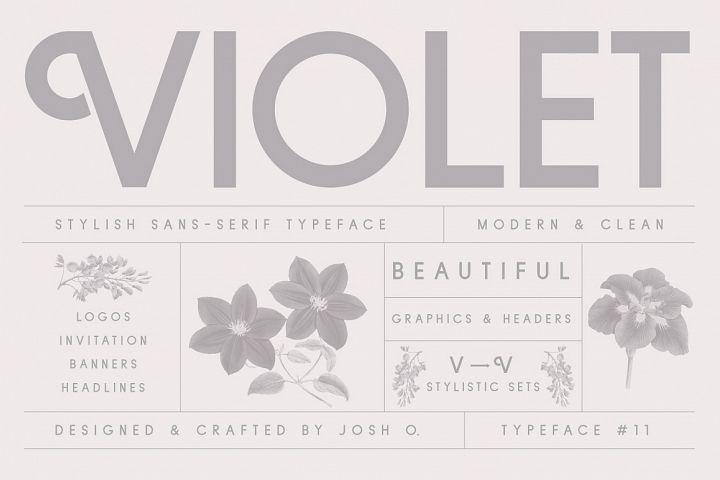 Violet   A Stylish Sans Serif